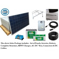 1 KW - KES COMPLETE SOLAR HOME PACKAGE