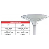 SOLAR POST TOP LIGHT
