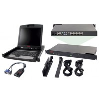 "APC 2X1X16 IP KVM with APC 17"" Rack LCD"