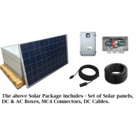 SOLAR - 10KW, 30 PANELS (320W) WITH 20 METER DC CABLE + 8-MC4 CONNECTORS + 2-JUNCTION BOX