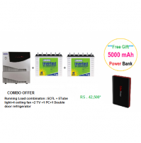 LUMINOUS COMBO - Cruze 2KVA + ILTT18048 150 Ah Tubular Battery-2 (SINE WAVE)