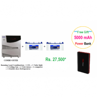 Luminous Combo - Cruze 2KVA + 100Ah Flat Tubular Battery - 2